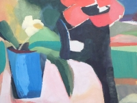 14-blue-vase-in-pink-light-30x76cm-oil-on-board